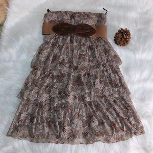 Brown January 7 Layered Dress